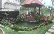 Toàn cảnh thi công hồ cá koi Vincom, Long Biên