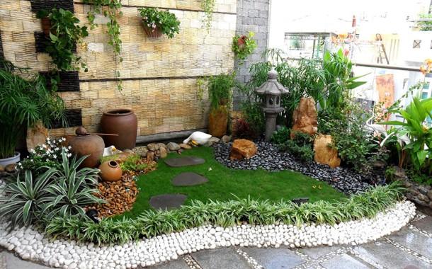 Thiết kế thi công tiểu cảnh sân vườn tuyệt đẹp