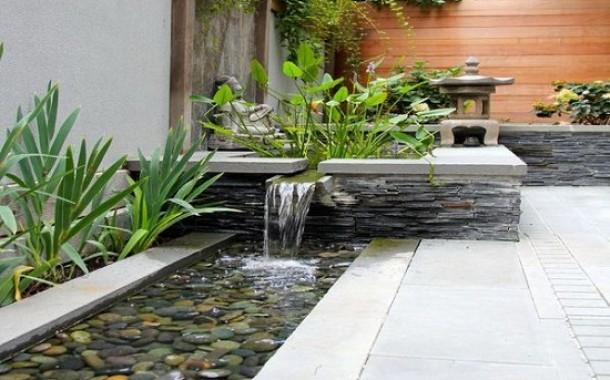 Thiết kế đài phun nước nghệ thuật dạng máng nước