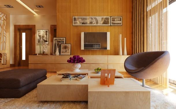 Thiết kế nội thất căn hộ chung cư 110m2 - Golden Place