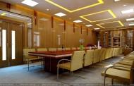 Thiết kế nội thất phòng họp truyền thống - BV Bạch Mai