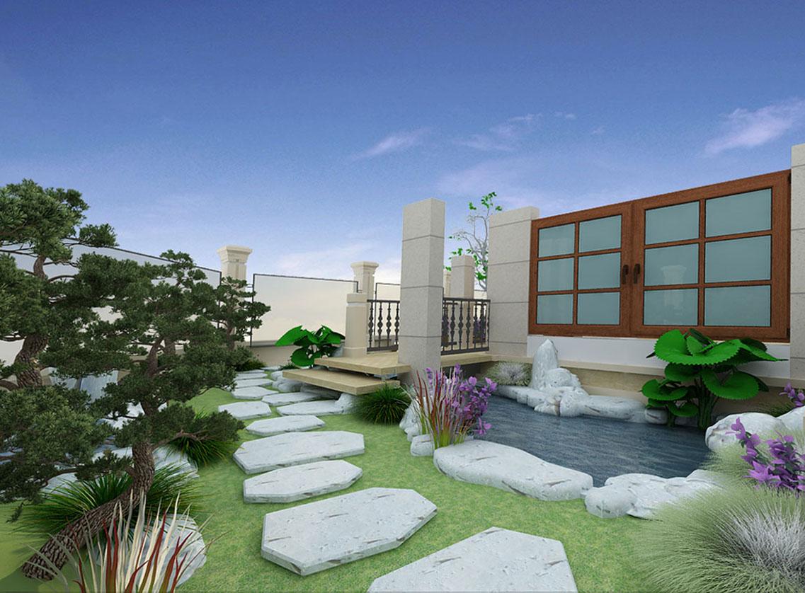 Thiết kế cảnh quan sân vườn anh Minh - Linh Đàm