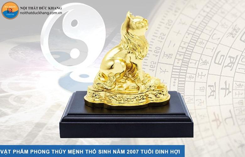 Vật phẩm phong thủy mệnh Thổ sinh năm 1947, 2007 tuổi Đinh Hợi