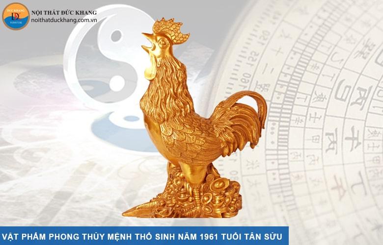 Vật phẩm phong thủy mệnh Thổ sinh năm 1961 tuổi Tân Sửu