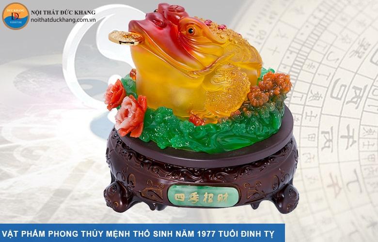 Vật phẩm phong thủy mệnh Thổ sinh năm 1977 tuổi Đinh Tỵ