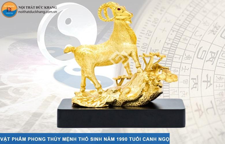 Vật phẩm phong thủy mệnh Thổ sinh năm 1990 tuổi Canh Ngọ